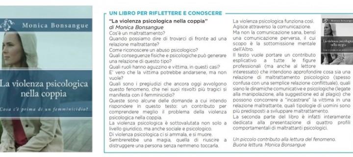 """""""La violenza psicologica nella coppia"""" di Monica Bonsangue (Invictus Editore)"""